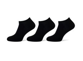 Sneakersokken heren zwart 3-pack maat 43-46