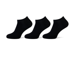 Sneakersokken heren zwart 3-pack maat 39-42