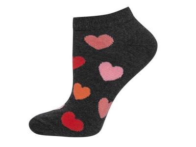 Sneaker sokken hartjes maat 35-40