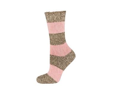 Sokken roze/grijs maat 35-40