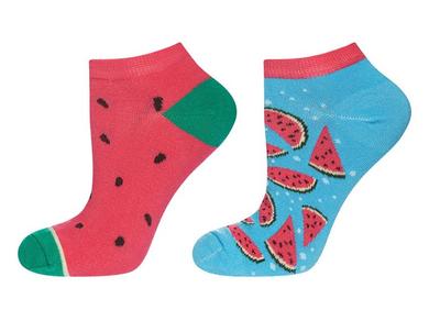 Sneaker sokken watermeloen maat 35-40