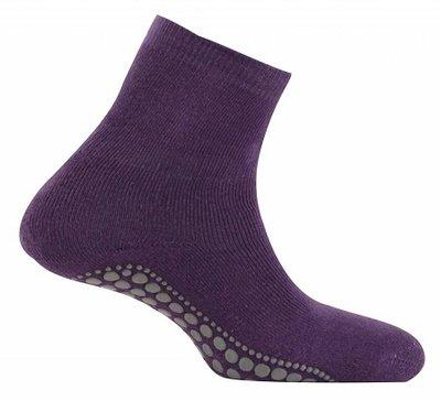 Antislip sokken huissokken paars