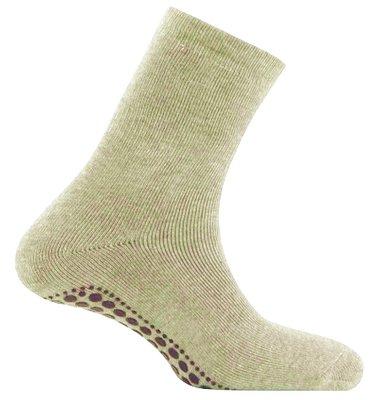 Antislip sokken huissokken beige