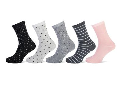 Dames sokken mix 5-pack maat 36-42