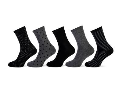 Dames sokken dark 5-pack maat 36-42