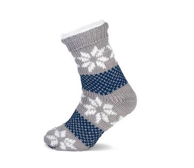 Huissokken grijs-blauw maat 36-42