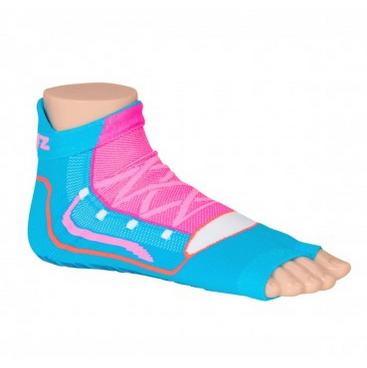 Antislip zwemsokken Sweakers blauw/roze maat 27-30