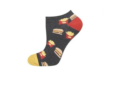 Sneaker sokken hamburgers en patat maat 40-45