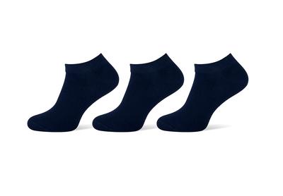 Sneakersokken heren navy 3-pack maat 43-46